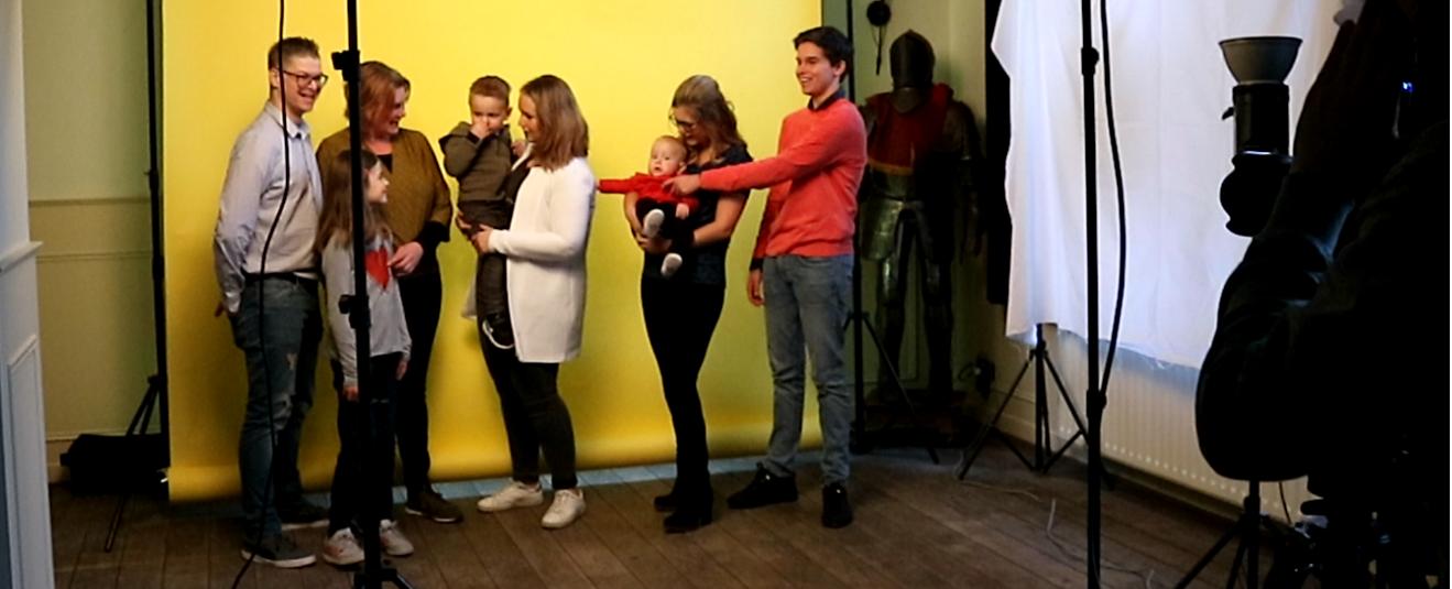 Voor de fotoshoot voor de nieuwe site hartvrienden.nl meldden zich veel ouders met kinderen aan
