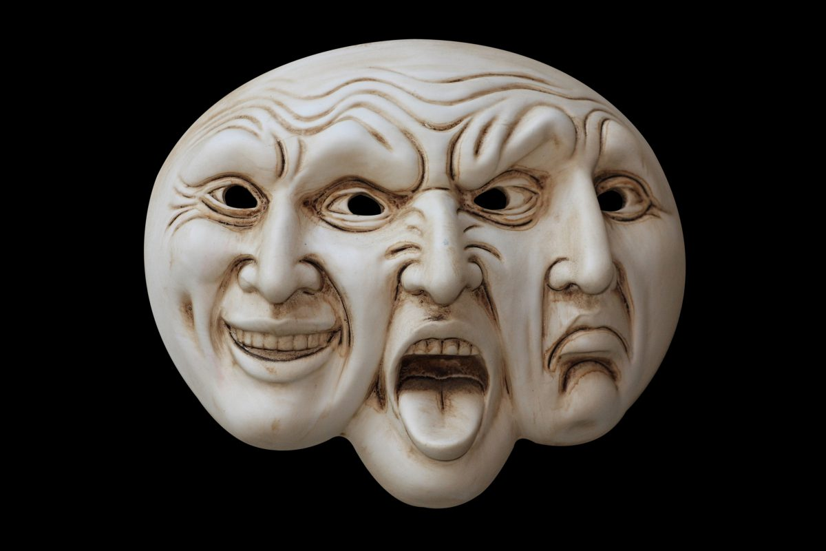masker met 3 emoties
